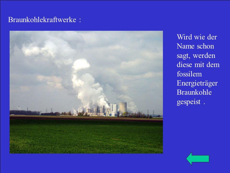 Braunkohlekraftwerke :