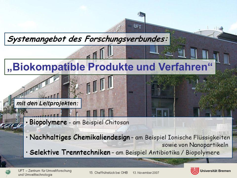 """""""Biokompatible Produkte und Verfahren"""