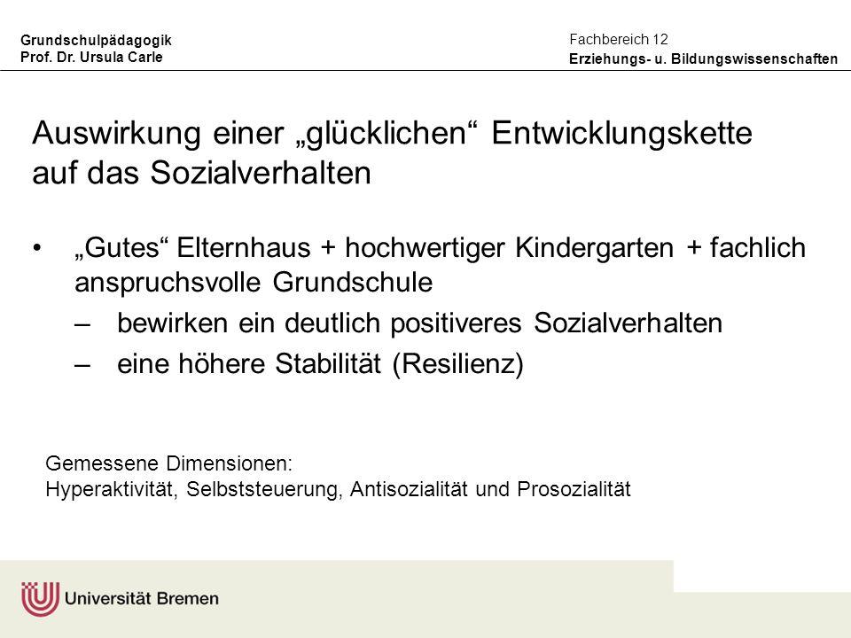 """Auswirkung einer """"glücklichen Entwicklungskette auf das Sozialverhalten"""