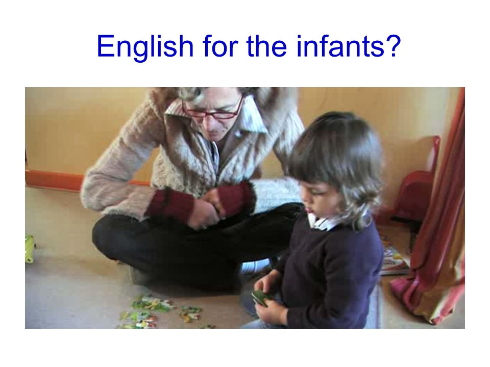 English for the infants