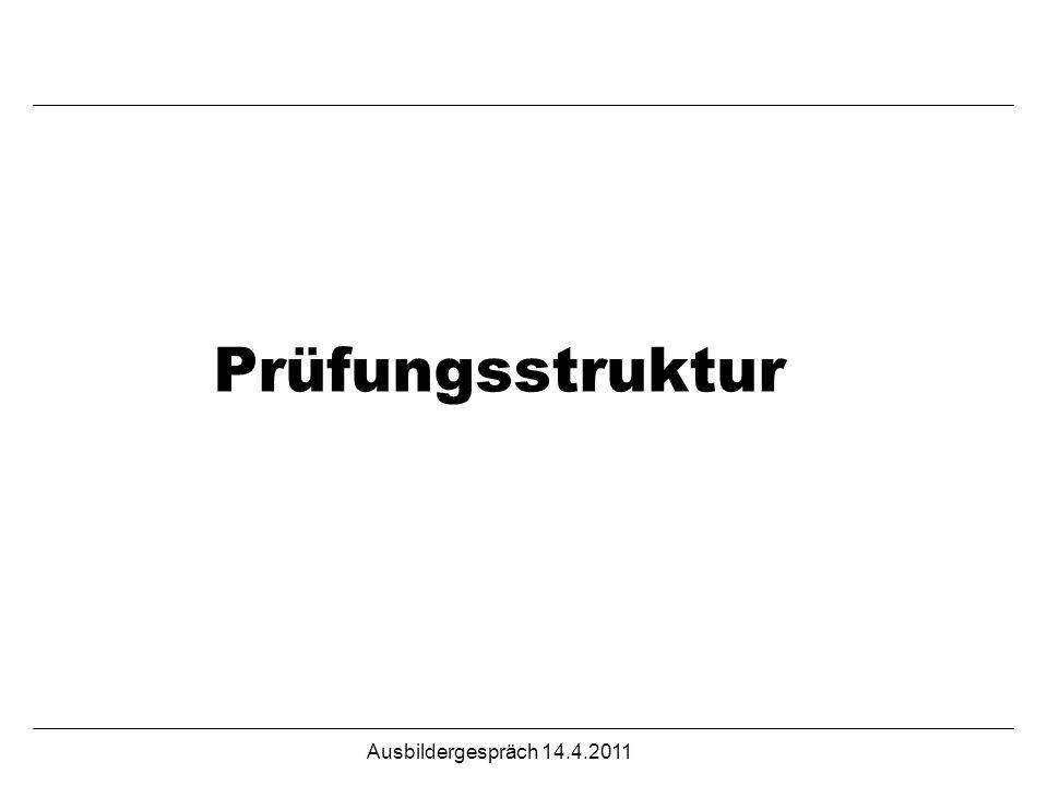 Prüfungsstruktur Ausbildergespräch 14.4.2011