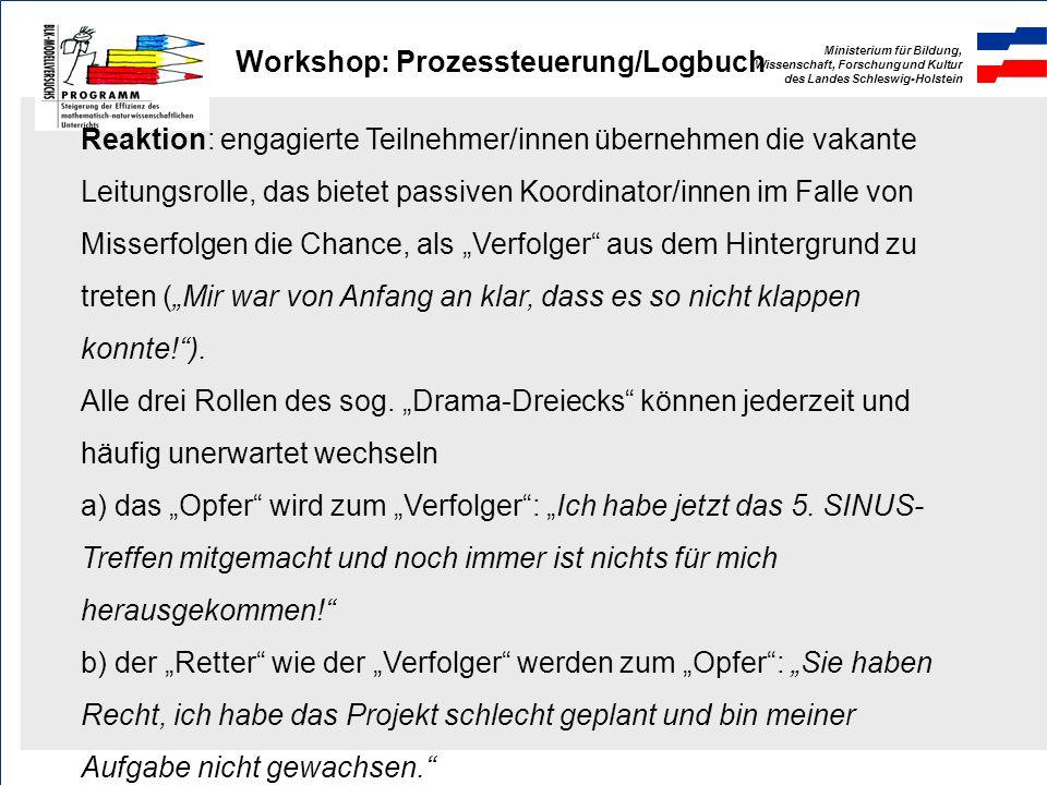 Workshop: Prozessteuerung/Logbuch