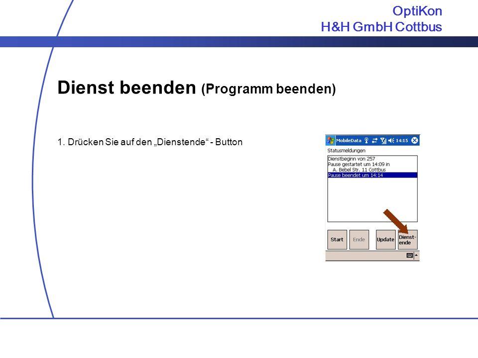 Dienst beenden (Programm beenden)
