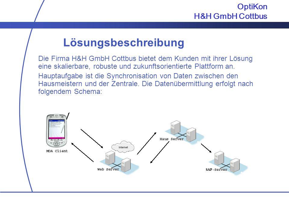 Lösungsbeschreibung OptiKon H&H GmbH Cottbus
