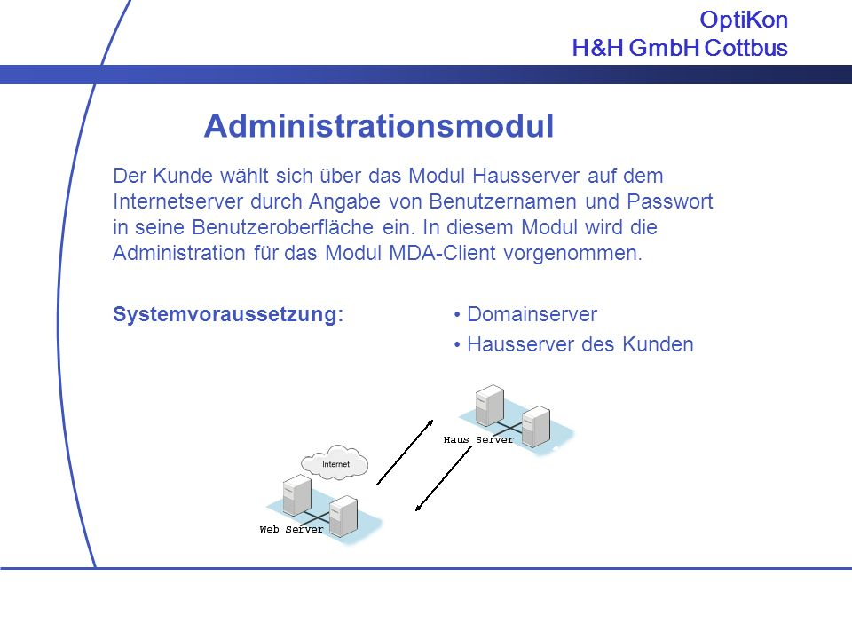 Administrationsmodul