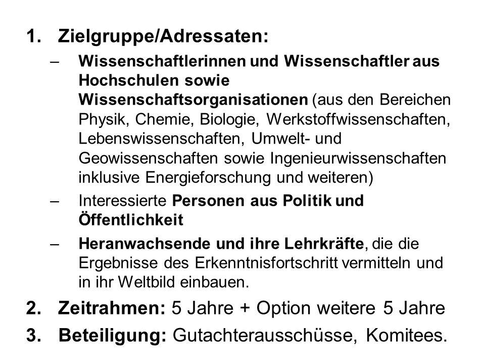 Zielgruppe/Adressaten: