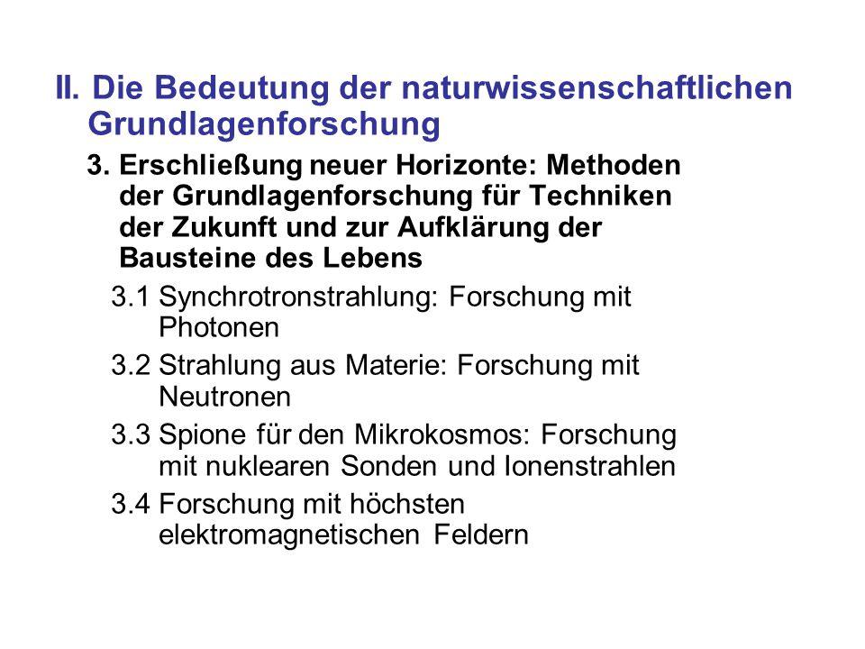 II. Die Bedeutung der naturwissenschaftlichen Grundlagenforschung