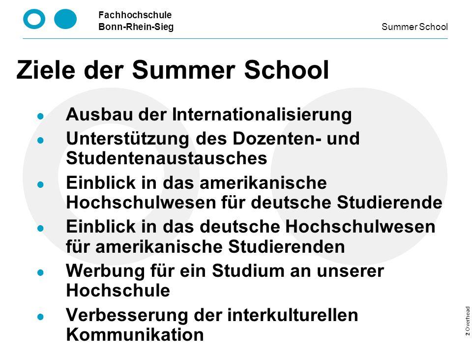 Ziele der Summer School