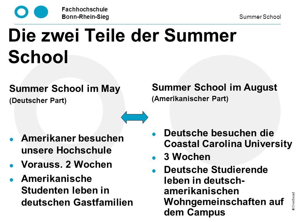 Die zwei Teile der Summer School