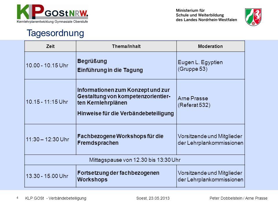 Mittagspause von 12.30 bis 13:30 Uhr
