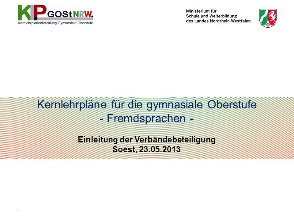 Einleitung der Verbändebeteiligung Soest, 23.05.2013