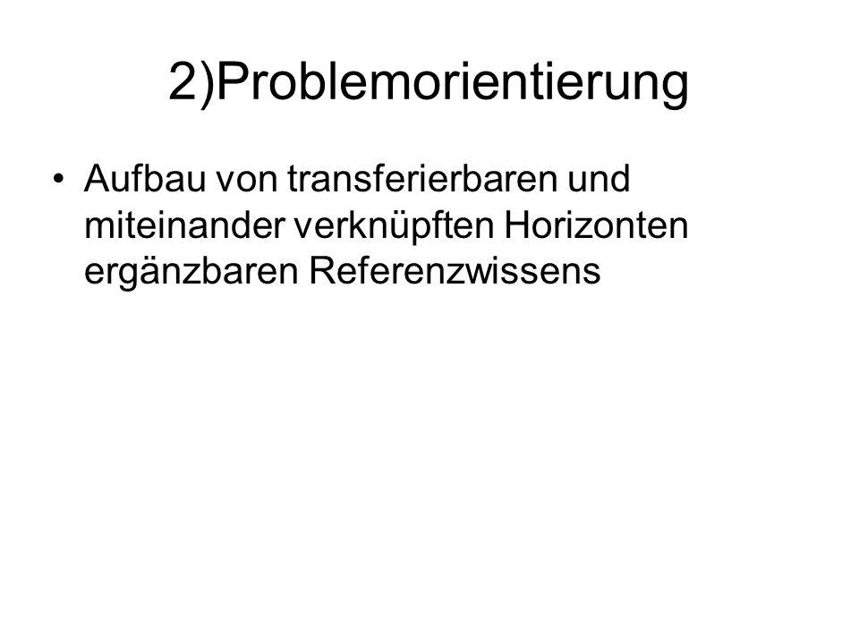 2)Problemorientierung