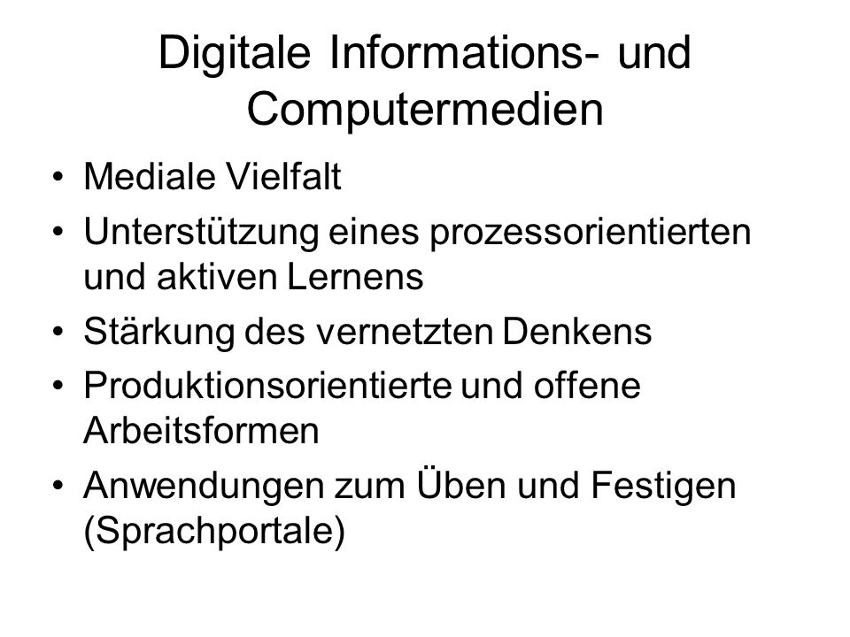 Digitale Informations- und Computermedien
