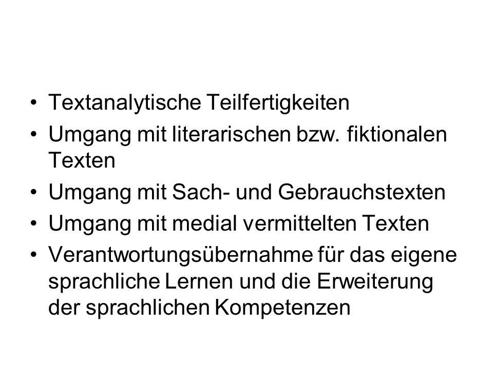 Textanalytische Teilfertigkeiten