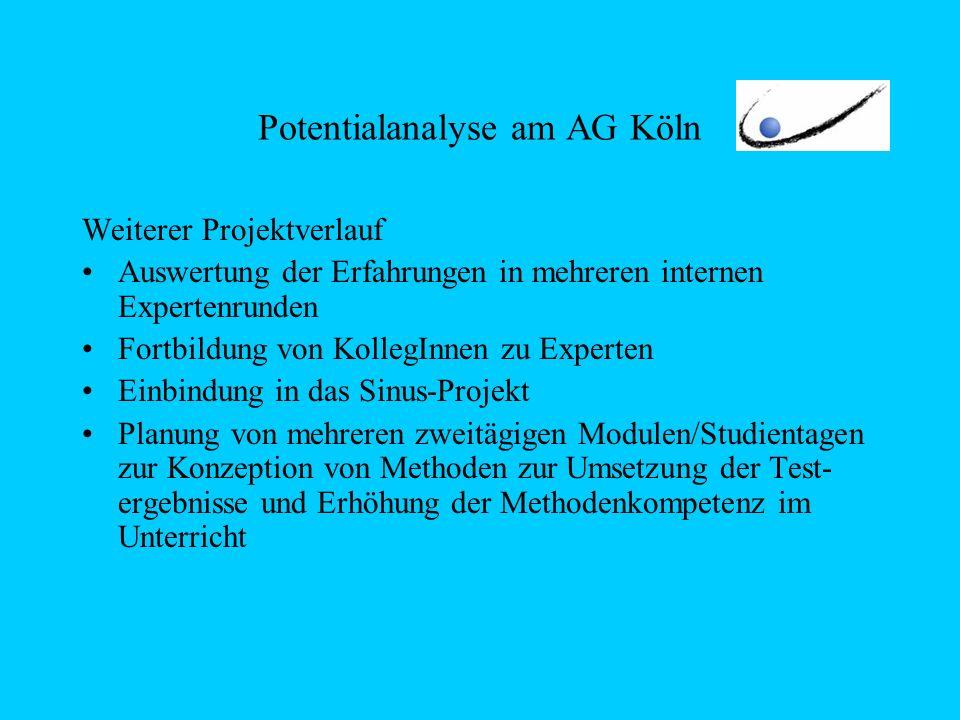 Potentialanalyse am AG Köln