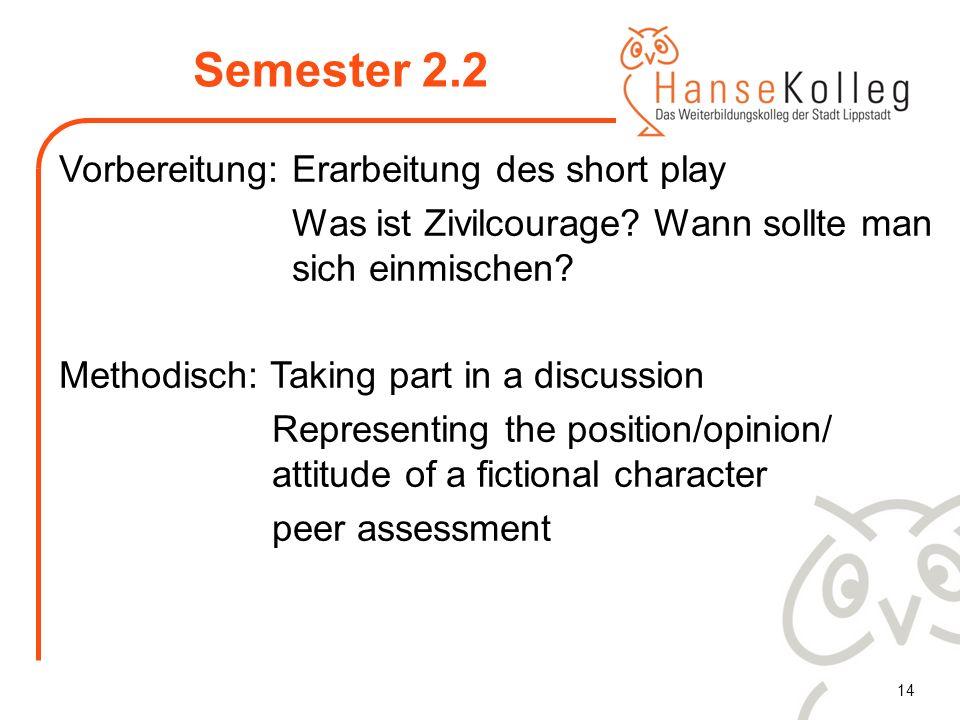 Semester 2.2