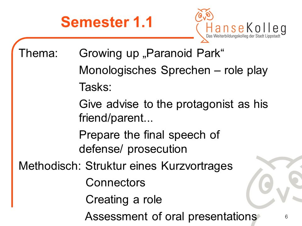Semester 1.1