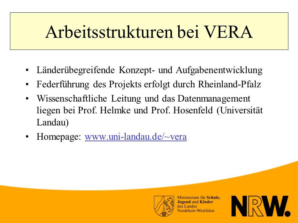 Arbeitsstrukturen bei VERA