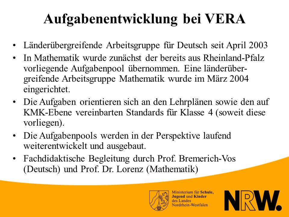 Aufgabenentwicklung bei VERA