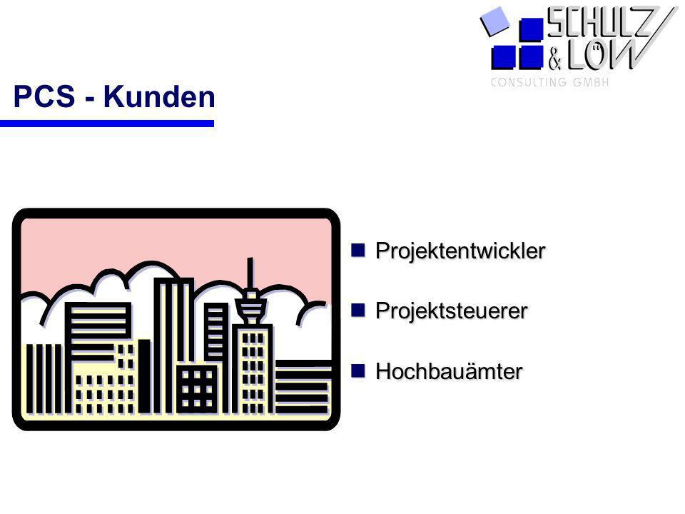 PCS - Kunden Projektentwickler Projektsteuerer Hochbauämter PCS