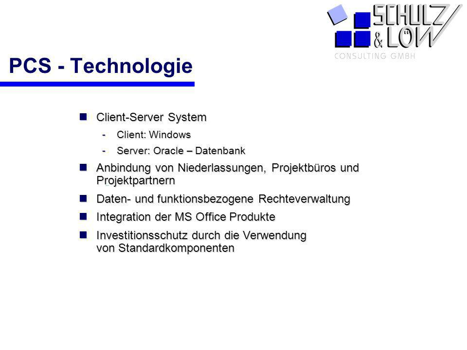 PCS - Technologie Client-Server System