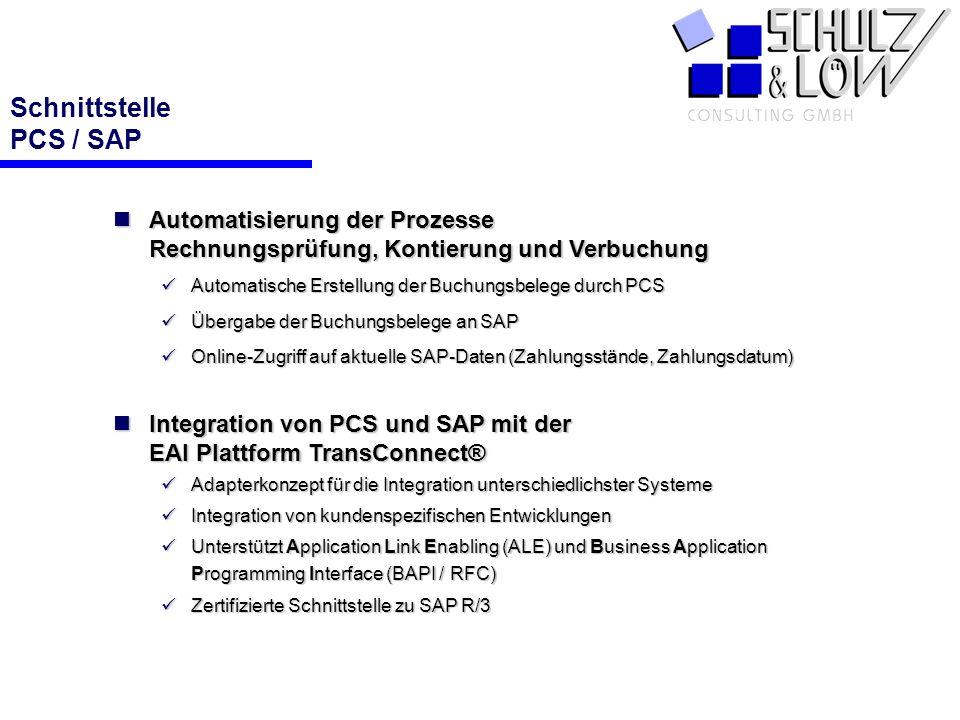 Schnittstelle PCS / SAP
