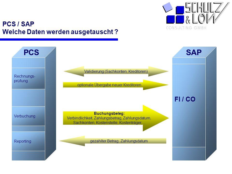 PCS / SAP Welche Daten werden ausgetauscht