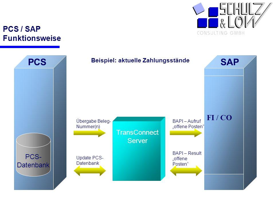 PCS / SAP Funktionsweise