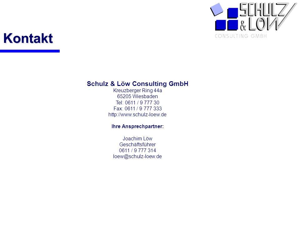 Schulz & Löw Consulting GmbH Ihre Ansprechpartner: