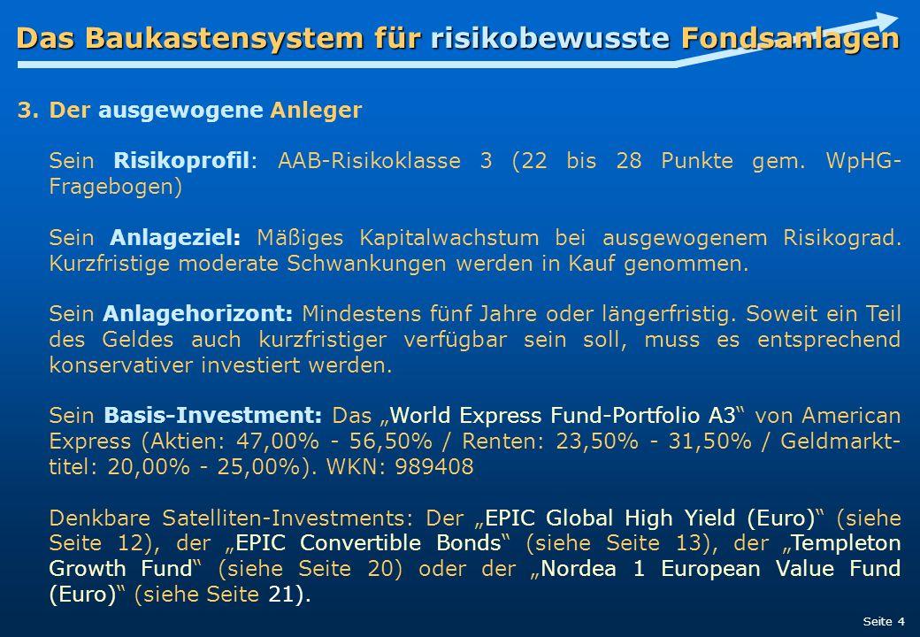 Der ausgewogene Anleger