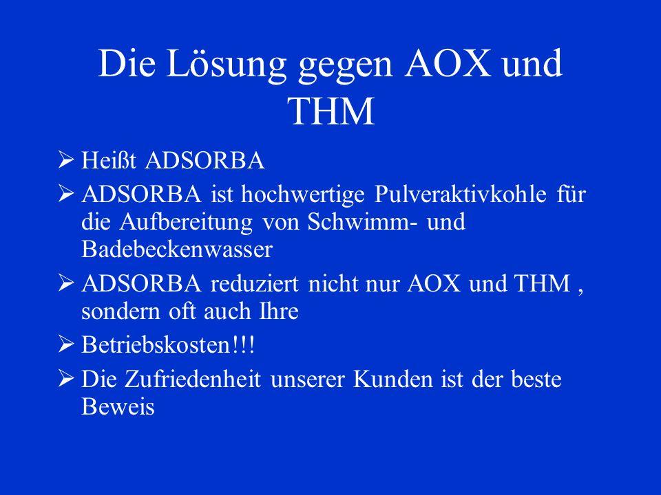 Die Lösung gegen AOX und THM