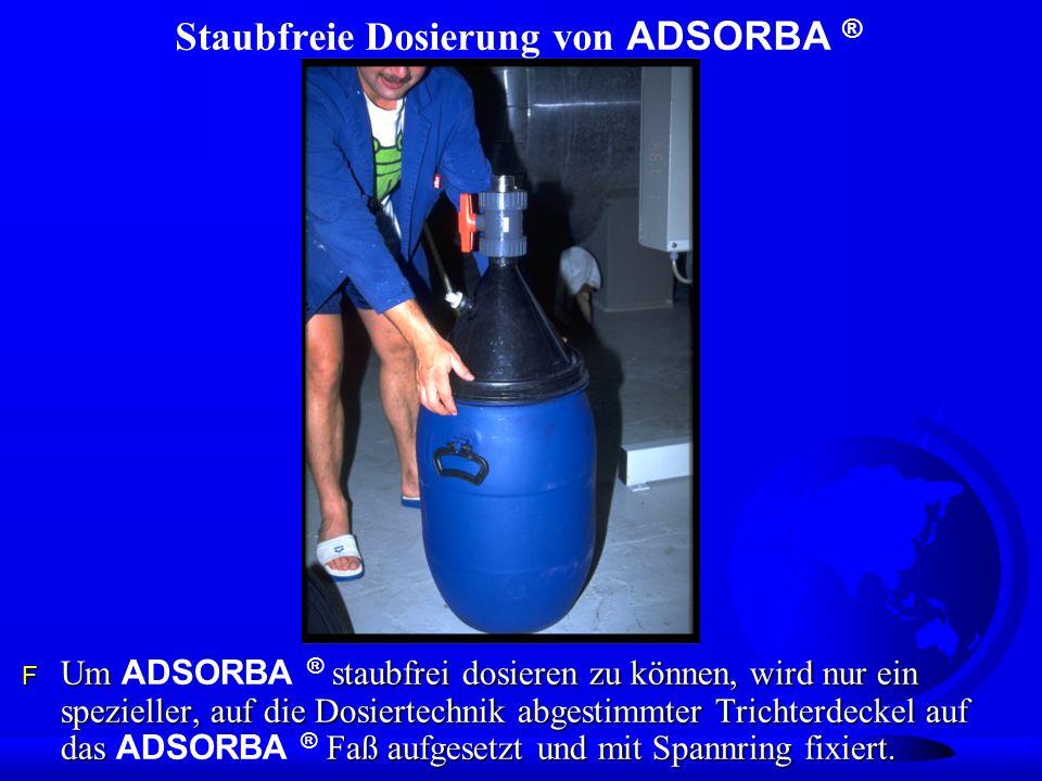Staubfreie Dosierung von ADSORBA ®