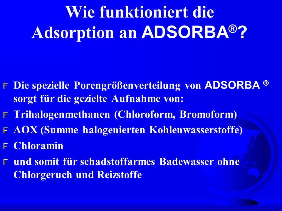 Wie funktioniert die Adsorption an ADSORBA®