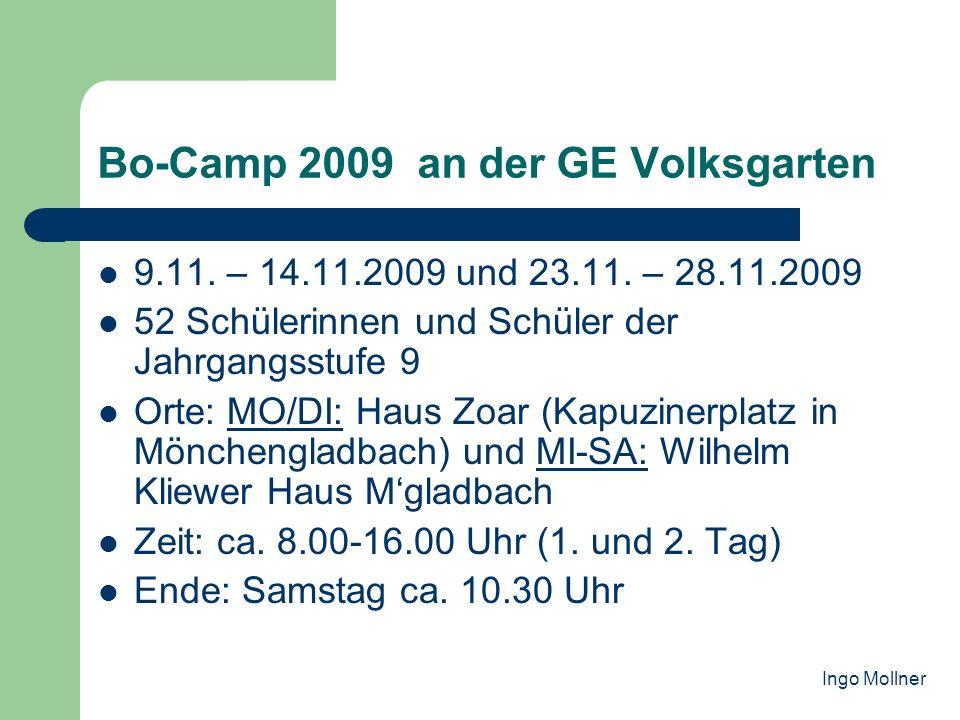 Bo-Camp 2009 an der GE Volksgarten