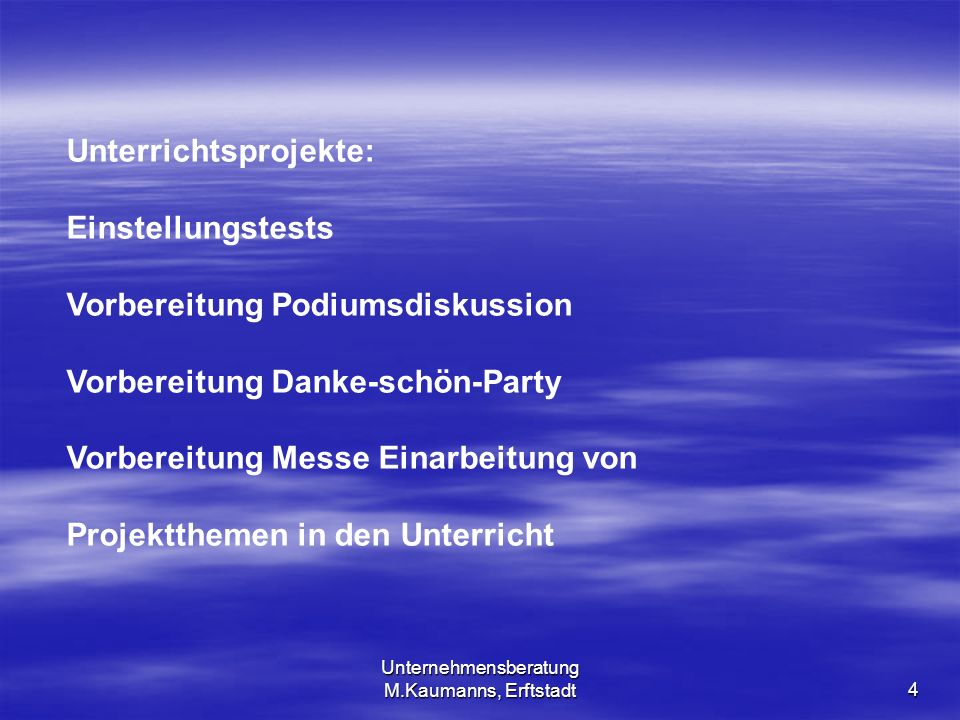 Unternehmensberatung M.Kaumanns, Erftstadt