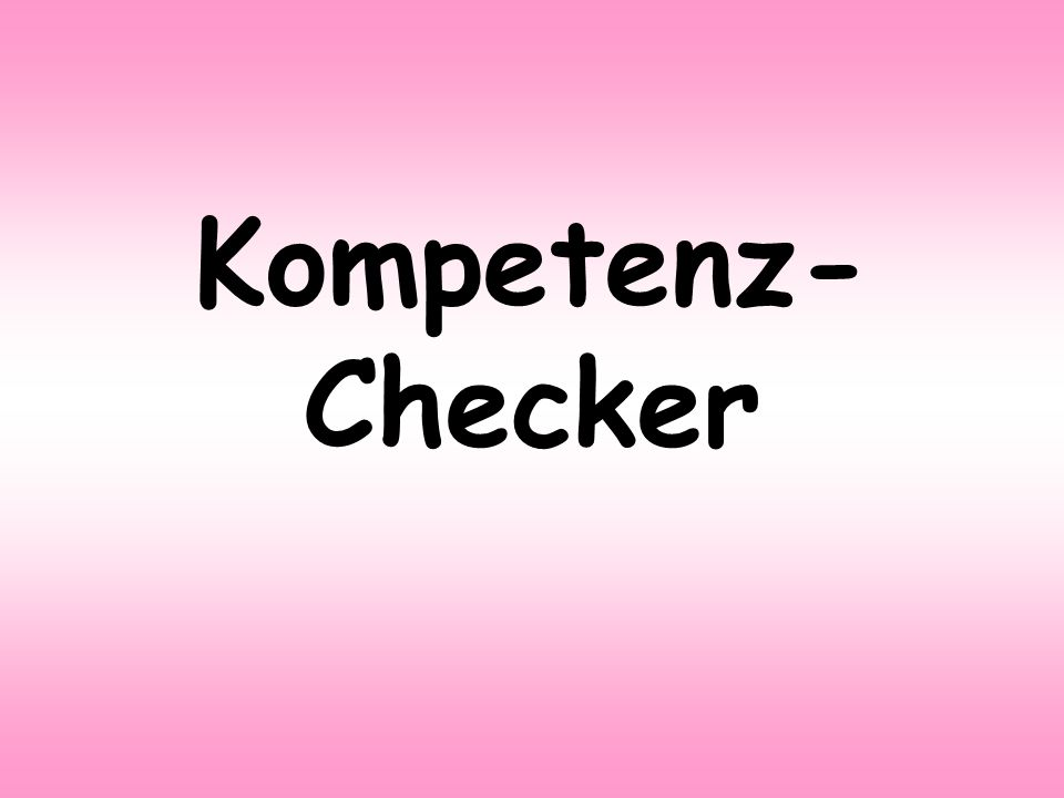 Kompetenz-Checker