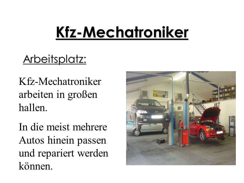 Kfz-Mechatroniker Arbeitsplatz: