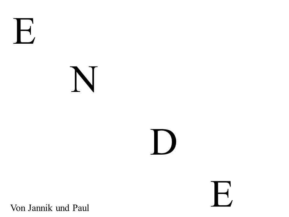 E N D E Von Jannik und Paul