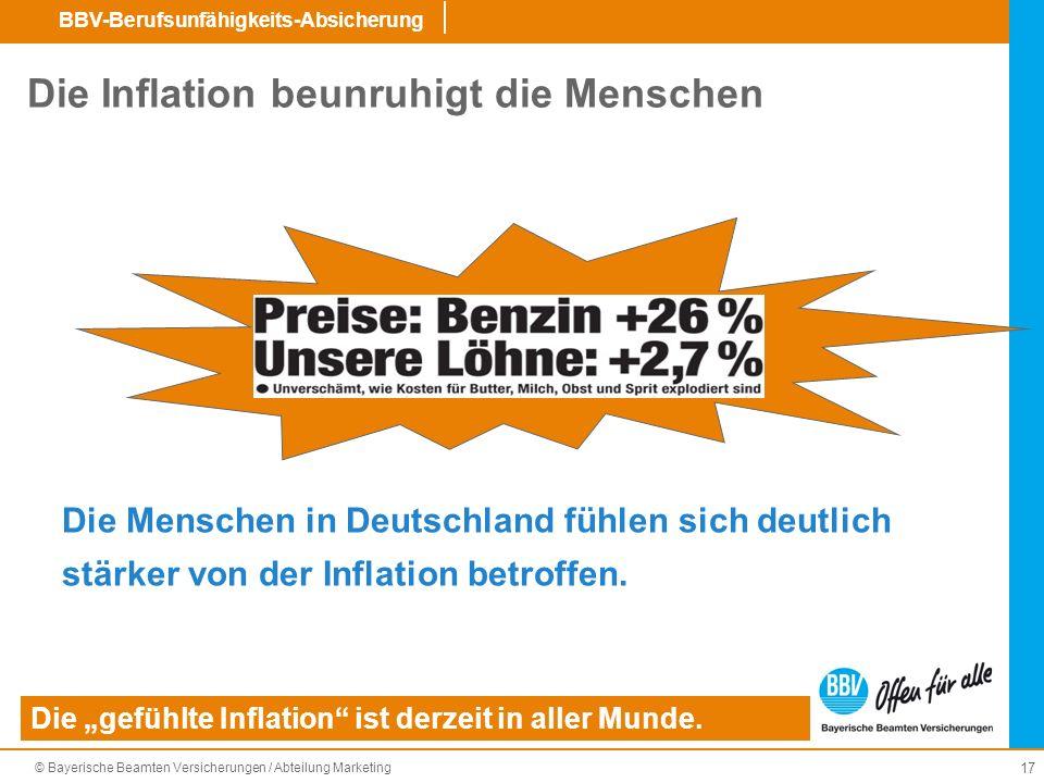 Die Inflation beunruhigt die Menschen