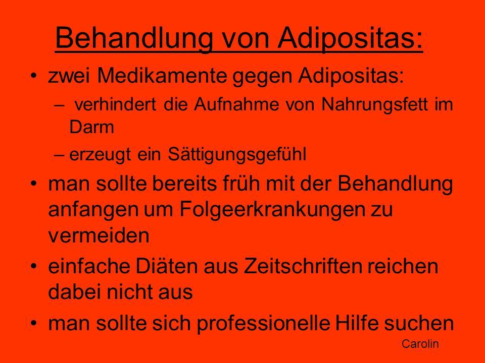 Behandlung von Adipositas: