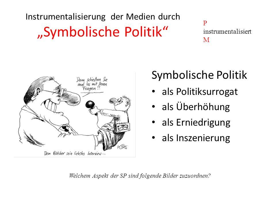 """Instrumentalisierung der Medien durch """"Symbolische Politik"""