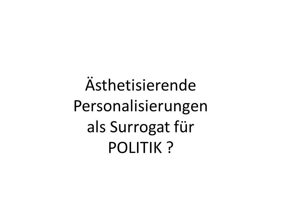 Ästhetisierende Personalisierungen als Surrogat für POLITIK