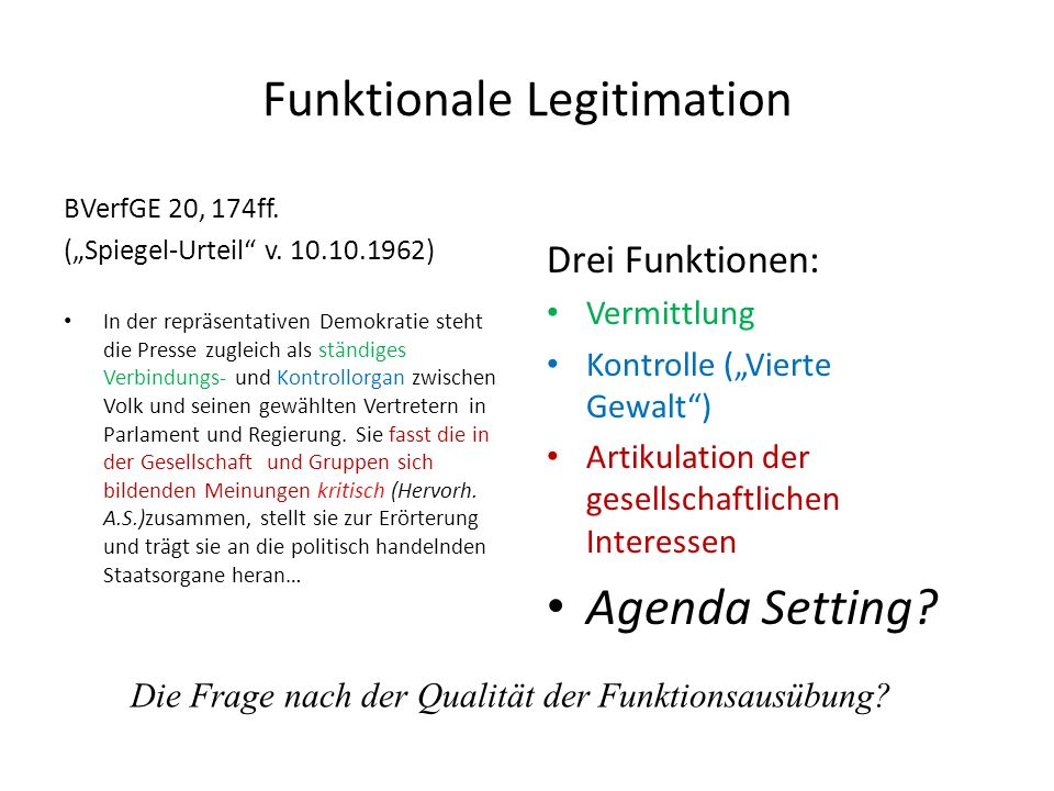 Funktionale Legitimation