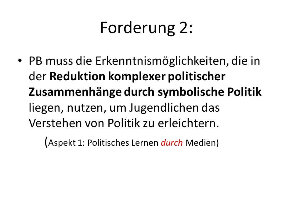 Forderung 2: