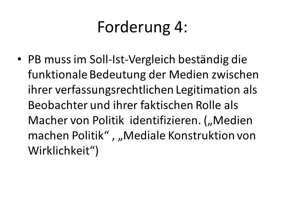Forderung 4: