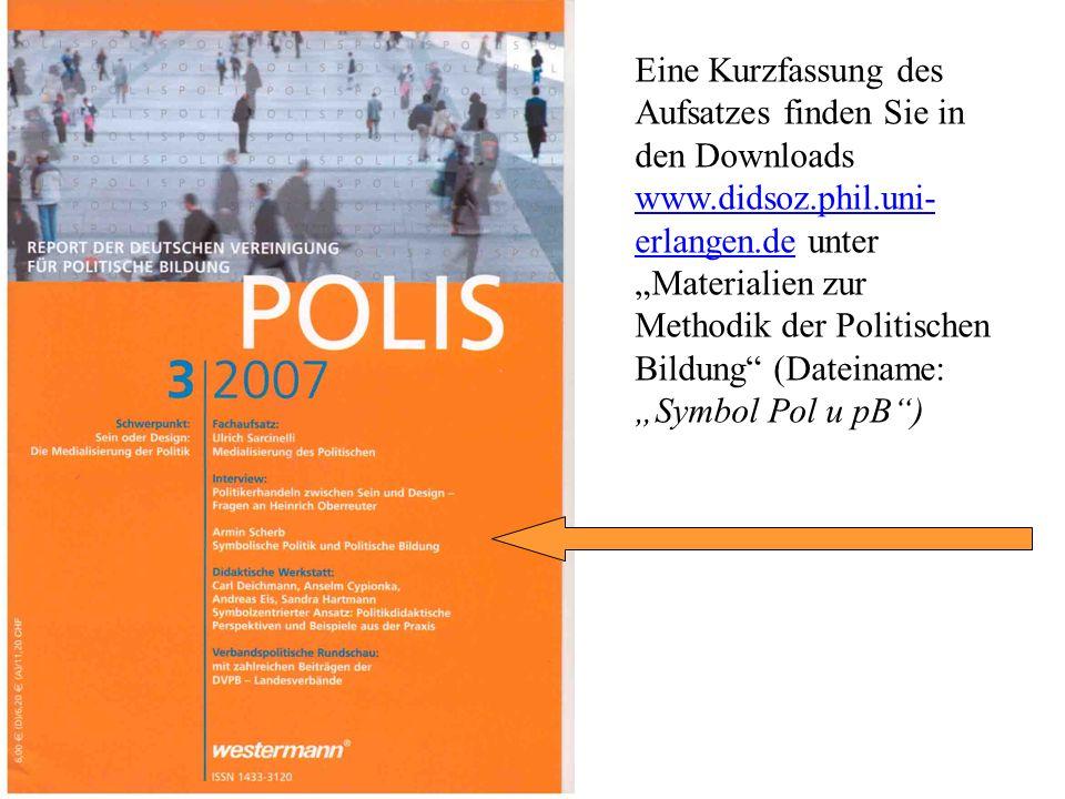 Eine Kurzfassung des Aufsatzes finden Sie in den Downloads www. didsoz