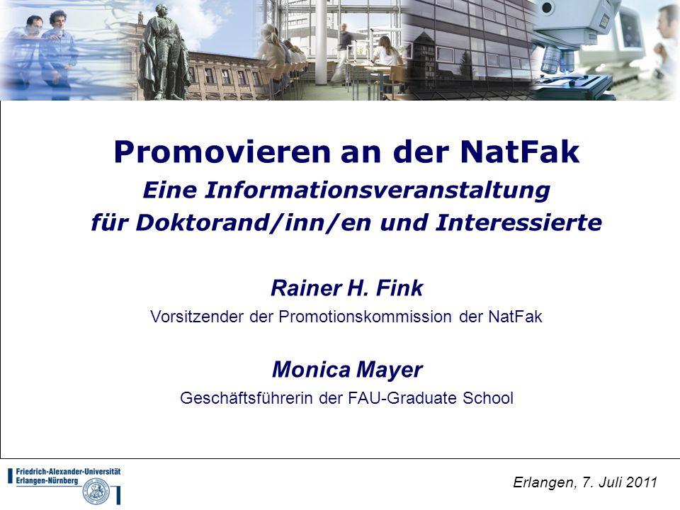 Promovieren an der NatFak
