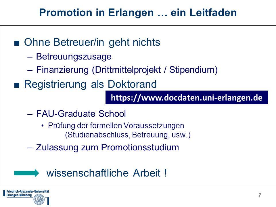 Promotion in Erlangen … ein Leitfaden
