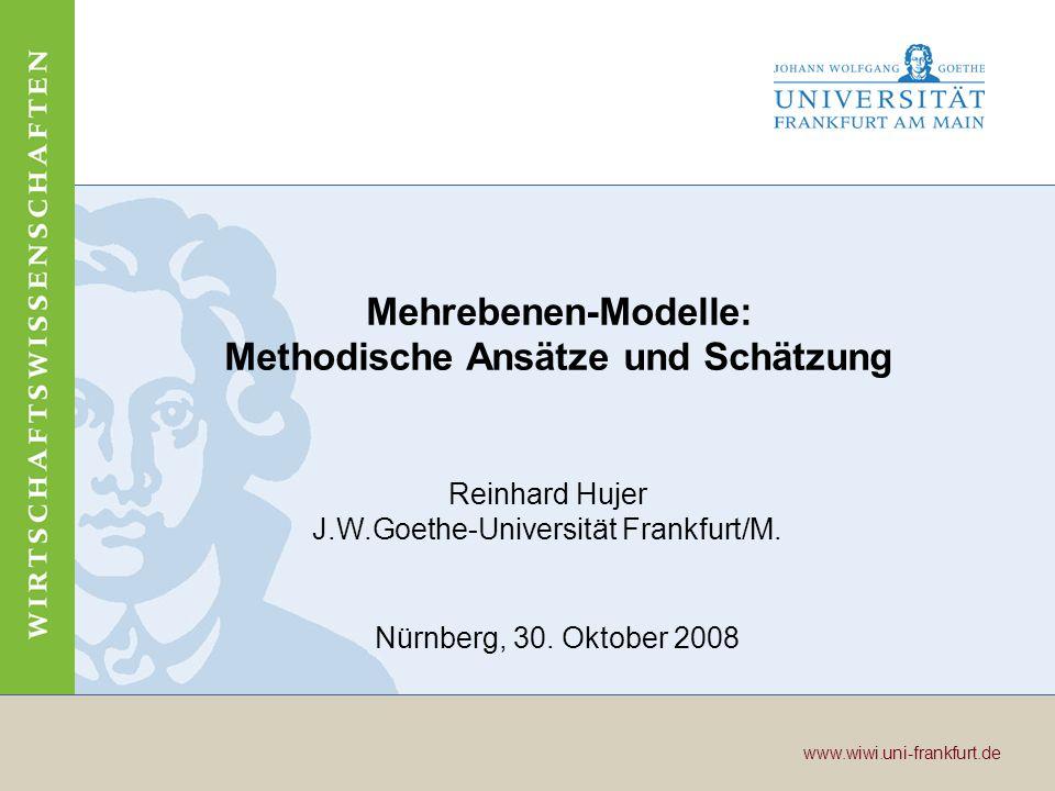 Mehrebenen-Modelle: Methodische Ansätze und Schätzung