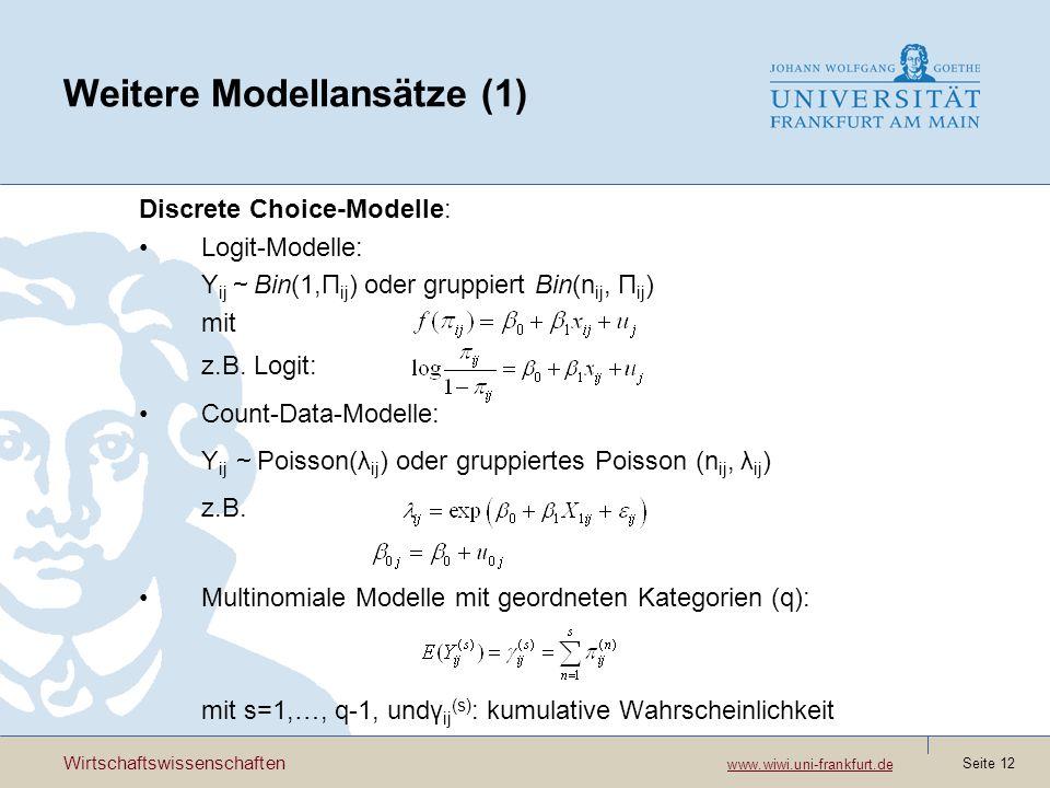 Weitere Modellansätze (1)